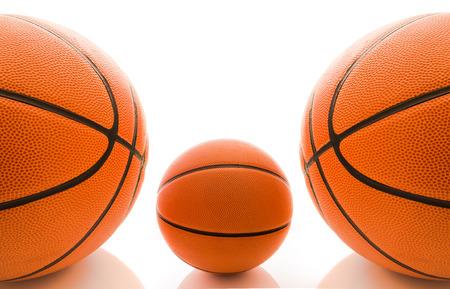 international basketball: Basketball ball over white background