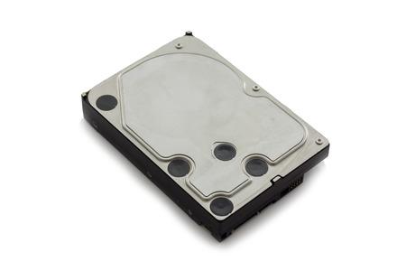 disco duro: Disco duro viejo modelo de ordenador en el fondo blanco Foto de archivo