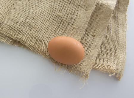 gunny: Chicken eggs on gunny sack