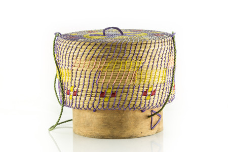 isaan: thai laos bamboo sticky rice container