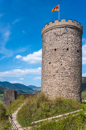 donjon: Donjon of the ruined castle Husen in Hausach Black Forest BadenWurttemberg Germany Europe Stock Photo