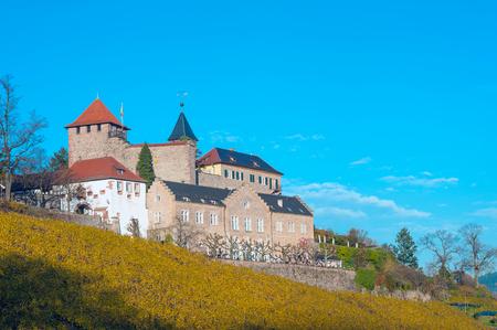 autumnally: Castle Eberstein, Gernsbach Obertsrot, Black Forest, Baden-Wurttemberg, Germany, Europe
