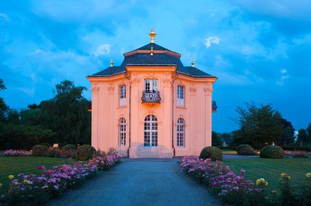 rosoideae: The Pagodenburg Pagoda castle in Rastatt, Black Forest, Baden-Wurttemberg, Germany, Europe