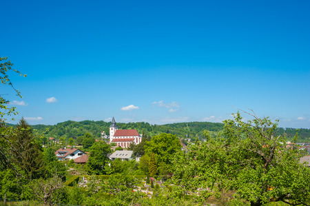 View on the Liebfrauenkirche in Gernsbach, Black Forest, Baden-Wuerttemberg, Germany, Europe