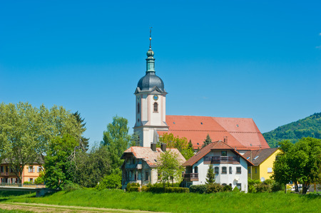 The parish church Saint Laurentius in  Bad Rotenfels, Black Forest, Baden-Wurttemberg, Germany, Europe