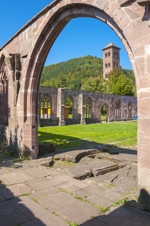 abbeys: The cloister with owl tower of the historical monastery Hirsau in the Black Forest, Baden-Wurttemberg, Germany, Europe Stock Photo