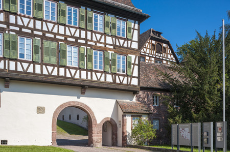 timbering: The lower gate in the historical monastery Hirsau, Black Forest, Baden-Wurttemberg, Germany, Europe Stock Photo