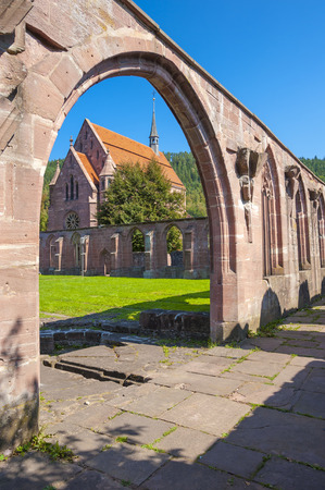 The cloister with Marien-chapel of the historical monastery Hirsau in the Black Forest, Baden-Wurttemberg, Germany, Europe