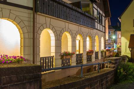 arcades: Arcades in the historic center of Gernsbach, Black Forest, Baden-Wuerttemberg, Germany, Europe