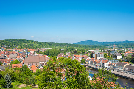 Cityscape of Gernsbach with Saint Jacob Church, Black Forest, Germany, Europe