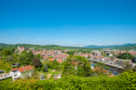 jacob: Cityscape of Gernsbach with Liebfrauenkirche and Saint Jacob Church, Black Forest, Germany, Europe