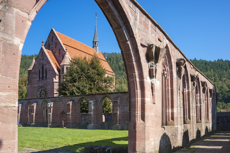 abbeys: The cloister with Marien-chapel of the historical monastery Hirsau in the Black Forest, Baden-Wurttemberg, Germany, Europe