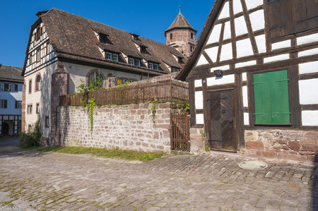 edifices: Historical half-timbered houses in the former monastery Hirsau in the Black Forest, Baden-Wurttemberg, Germany, Europe