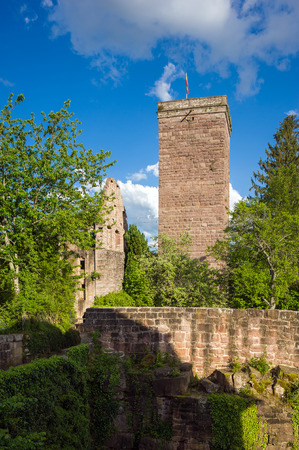 donjon: The historic ruined castle Zavelstein in Bad Teinach-Zavelstein. Black Forest, Baden-Wurttemberg, Germany, Europe