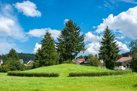 celts: The historical Celts hill Krautbühl in Nagold. Black Forest, Baden-Wurttemberg, Germany, Europe Stock Photo
