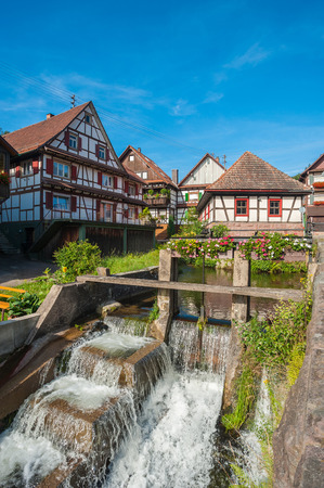 winepress: The historic old winepress with Weir in Reichental. Black Forest, Baden-Wurttemberg, Germany, Europe