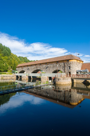 building sector: Hydroelectric power plant Rudolf-Fettweis at the river Murg in Forbach, Black Forest, Baden-Wurttemberg, Germany, Europe