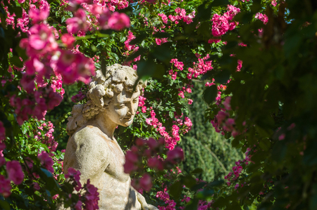 Gods statue in the Rose Garden Beutig in Baden-Baden, Black Forest, Baden-Wurttemberg, Germany, Europe
