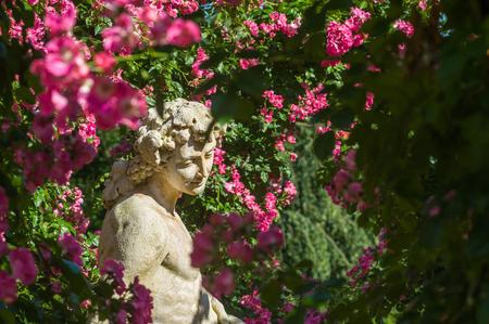 black gods: Gods statue in the Rose Garden Beutig in Baden-Baden, Black Forest, Baden-Wurttemberg, Germany, Europe