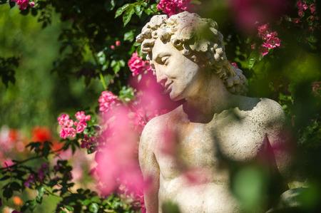 gods: Gods statue in the Rose Garden Beutig in Baden-Baden, Black Forest, Baden-Wurttemberg, Germany, Europe