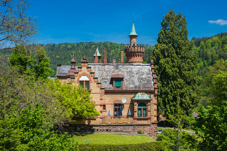 black forest: Historical villa in Bad Liebenzell, Black Forest, Baden-Wurttemberg, Germany, Europe