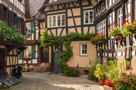 The historical old town of Engelgasse in Gengenbach, Black Forest, Baden-Wrttemberg, Germany, Europe