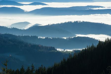 Übersicht von der B500 in der Nähe der Mummelsee über den Schwarzwald, Baden-Württemberg, Deutschland, Europa