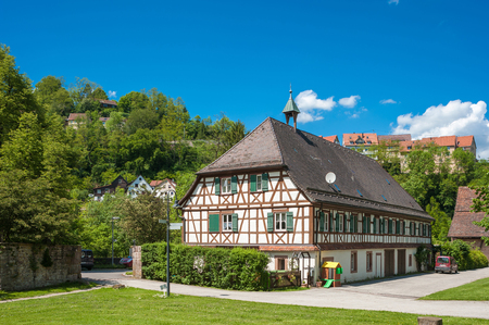 abbeys: The cloister Maria Reuthin in wild mountain, Black Forest, Baden-Wurttemberg, Germany, Europe Editorial