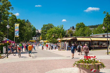 black forest: The Promenade in Titisee-Neustadt, Black Forest, Baden-Wuerttemberg, Germany, Europe Editorial