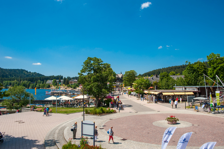 humane: The Promenade in Titisee-Neustadt, Black Forest, Baden-Wuerttemberg, Germany, Europe Editorial