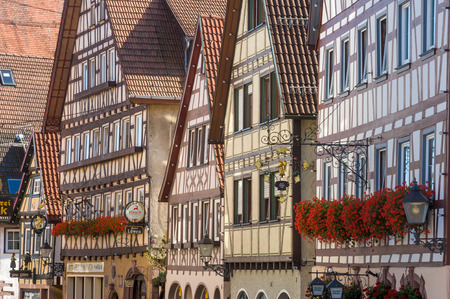 black forest: Historical half-timbered facades in Dornstetten, Black Forest, Baden-Wurttemberg, Germany, Europe