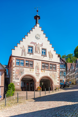 gables: The historic townhall in Schiltach, Black Forest, Baden-Wurttemberg, Germany, Europe