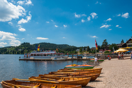 freetime activity: Boat hire in Titisee Neustadt, Black Forest, Baden-Wurttemberg, Germany, Europe