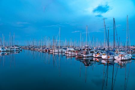 The marina of Heiligenhafen on the Baltic Sea Stockfoto