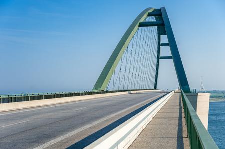 The Fehmarnsund Bridge at the Baltic Sea Stock Photo - 101786782