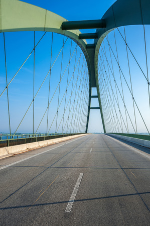 The Fehmarnsund Bridge at the Baltic Sea