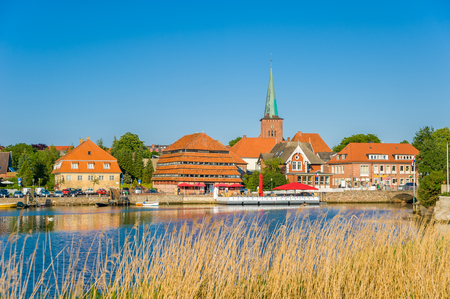 View over the Neustadter inland waters on Neustadt Holstein at the Baltic Sea Stock Photo