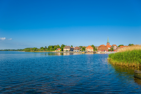 View over the Neustadter inland waters on Neustadt Holstein at the Baltic Sea Stockfoto