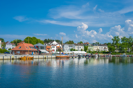Townscape at the harbor in Neustadt Holstein at the Baltic Sea