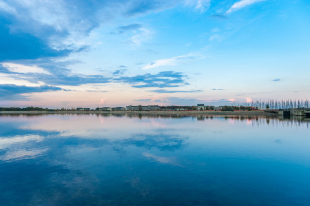 Landscape of the Inland lake in Heiligenhafen at the Baltic Sea 版權商用圖片