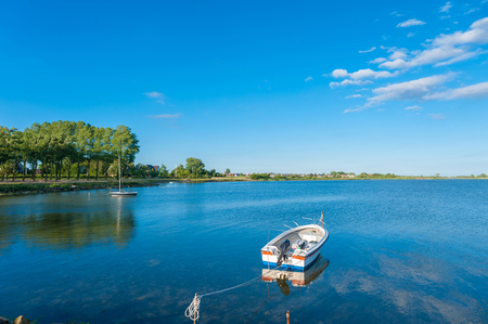 Burger inland lake in Burgstaaken Fehmarn at the Baltic Sea Stockfoto