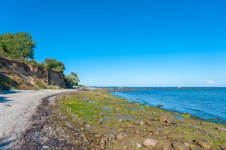 Steep coast at the Wulfener Hals on the island Fehmarn at the Baltic Sea