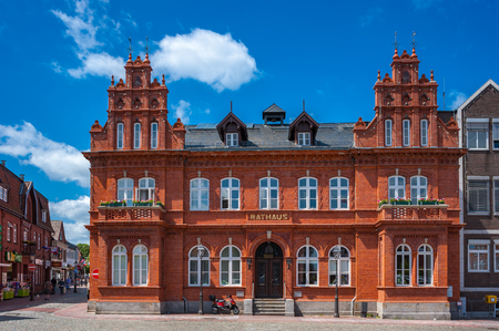 The historical town hall in Heiligenhafen on the Baltic Sea Redactioneel