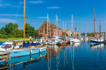 Harbor in Orth on the island Fehmarn
