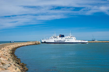 The Scandlines ferry in the port of Puttgarden on the island Fehmarn Publikacyjne