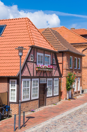 View in the historical Johannisstra?e in Oldenburg at Holstein at the Baltic Sea