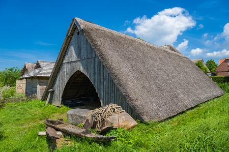 Buildings of a slavic village in the museum Wallmuseum in Oldenburg in Holstein