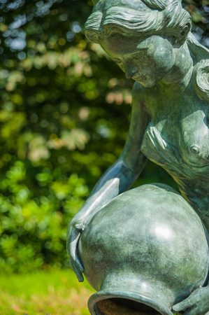 Sculpture in the garden of Blomenburg Castle in Selent at the Baltic Sea