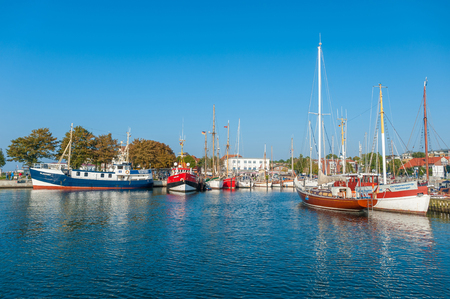 Harbor in Laboe at the Baltic Sea Publikacyjne