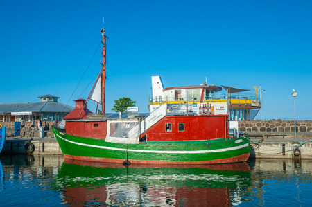 Fishing port in Sassnitz on the island of R?gen at the Baltic Sea Archivio Fotografico - 116829997